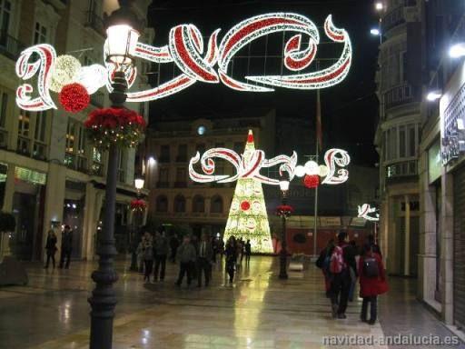 Calle Larios y Arbol navidad gigante