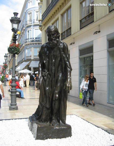 Les Bourgeois de Calais, Sculpture by Auguste Rodin, detail : Eustache de Saint-Pierre