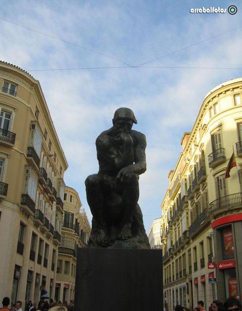 Exposicion de Rodin en la Calle Larios de Málaga