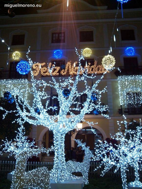 Alumbrado de Navidad en la Plaza del Ayuntamiento de Almuñecar