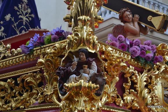 Detalle del Trono de Nuestro Padre Jesús Nazareno de Almuñecar